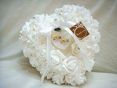 favores do casamento anel travesseiro com transprent anel caixa 5 coração cor design único, muito especial anel travesseiro favor 2014 decorações 17.60