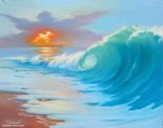 Gentle Storm by Jim Warren..  This is what Jim warren painted on my decollete.