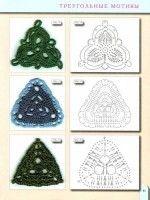 diagramas esquemas de crochet triángulos