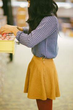 Checkered shirt blouse