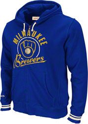 Milwaukee Brewers Mitchell & Ness Royal Full Zip Hoodie $80.99 http://www.fansedge.com/Milwaukee-Brewers-Mitchell-Ness-Royal-Full-Zip-Hoodie-_-82726795_PD.html?social=pinterest_pfid63-18493