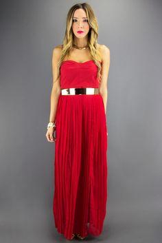 ZOE LONG DRESS - Red