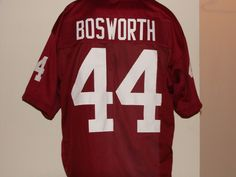 723e71ff #44 Brian Bosworth's (The Boz) Oklahoma Sooners Red Throwback Jersey. http: