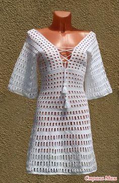 Fabulous Crochet a Little Black Crochet Dress Ideas. Georgeous Crochet a Little Black Crochet Dress Ideas. Crochet Beach Dress, Black Crochet Dress, Knit Dress, Crochet T Shirts, Crochet Cardigan, Crochet Clothes, Crochet Woman, Diy Crochet, Crochet Top