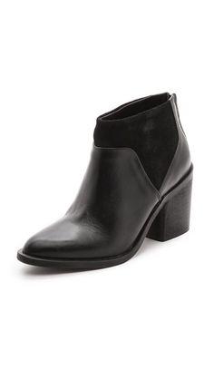 Modern Vintage Shoes Raz Heeled Booties