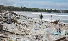 Bali's beaches buried in tide of plastic rubbish during monsoon season | World news | The Guardian Kuta Beach, Famous Beaches, Marine Environment, Jimbaran, Overseas Travel, Plastic Pollution, Oceans Of The World, World View, Environmental Issues