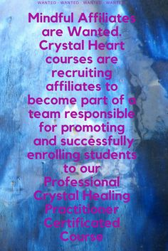 We are seeking affiliates that are happy to promote a great online course to prospects in the alternative healing niche. We want to share in the abundance that spreading the knowledge of crystal healing brings. Therefore,we require dedicated affiliates who are valued and rewarded for their work and to share in our vision. For more information please visit the site .