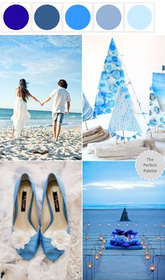 Ocean Inspired | Shades of Blue http://www.theperfectpalette.com/2013/07/ocean-inspired-shades-of-blue-white.html