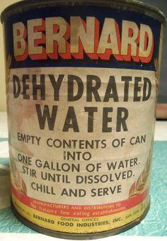 Vintage Dehydrated Water Gag