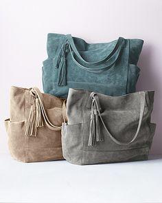 Isa Italian Signature Tote grey or beige bag