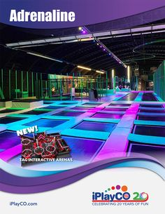 Adrenaline by iPlayCO . TAG Active, Cyber Towers, Custom Trampolines and more fun Adrenaline products. Kids Play Equipment, Park Equipment, Playground Design, Indoor Playground, Playground Ideas, Teen Bedroom Designs, Girls Bedroom, Indoor Trampoline, Kids Room Design