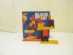 Block Head Game, Building Block Game, Balancing Skills Game, Vintage Pressman Game, Colorful Block Game, Family Game, Motor Skills Game by LuckyPennyTrading on Etsy