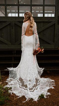 Fringe Wedding Dress, Long Sleeve Wedding Dress Boho, Bohemian Wedding Dresses, Fall Wedding Dresses, Elegant Wedding Dress, Wedding Bridesmaid Dresses, Wedding Attire, Bridal Dresses, Spring Wedding