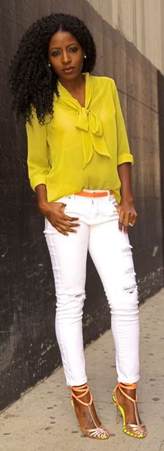 Shoxie Lime Tie Blouse by Style Pantry