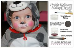 Puppy Dog tutorial with natural Halloween Makeup. Create a perfect puppy look without putting harmful chemicals on his sweet face. http://www.laurenbrookecosmetiques.com/blogs/news/15642340-halloween-tutorials