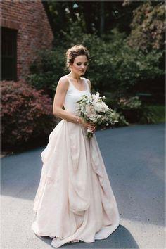 Details about Modern 2 Pieces Wedding Dress Boho Bridal Dress Custom Size 2 4 6 8 10 12 Backyard Wedding Dresses, Bohemian Wedding Dresses, Best Wedding Dresses, Designer Wedding Dresses, Bridal Dresses, Wedding Gowns, Wedding Lace, Modest Wedding, Garden Wedding