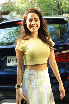 Nushrat Bharucha was all smiles for the camera. She looked pretty in a light yellow top and a white and yellow skirt. Bollywood Actress Hot Photos, Bollywood Girls, Beautiful Bollywood Actress, Most Beautiful Indian Actress, Indian Bollywood, Hot Actresses, Indian Actresses, Disha Patani Photoshoot, Photos Of Priyanka Chopra