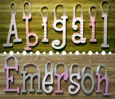 LAST MINUTE MOTHER'S DAY GIFT?!?!   Check out:    Nursery Wall Hanging Letters Baby Name Custom by chathamplace, $7.99