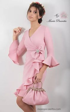 Swans Style is the top online fashion store for women. Shop sexy club dresses, jeans, shoes, bodysuits, skirts and more. Look Fashion, Girl Fashion, Fashion Dresses, Maid Dress, Pink Dress, Dress Skirt, Dress Up, Vestidos Vintage, Dress To Impress