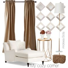 My cozy corner by andreea-bota on Polyvore featuring polyvore, interior, interiors, interior design, home, home decor, interior decorating and Pottery Barn