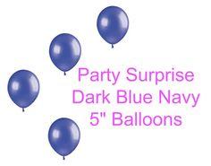 Dark Blue Navy Balloons 5 Mini Navy Blue Balloons by PartySurprise