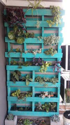 JARDIN VERTICAL, PALLETS,SUCULENTAS, DIY Greenhouses, Pallets, Ladder Decor, Crates, Planters, Garden, Diy, Home Decor, Succulents
