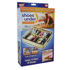 Maximize closet space with Shoes Under storage system - Susan Said. Under Bed Organization, Container Organization, Shoe Storage Bags, Vacuum Storage Bags, Shoe Organiser, Rolling Drawers, See On Tv, Space Saving, Hold On