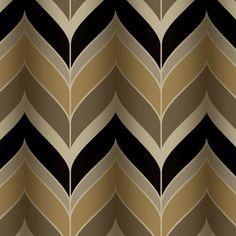 "York Wallcoverings Modern Luxe Gatsby 27' x 27"" Herringbone Wallpaper"