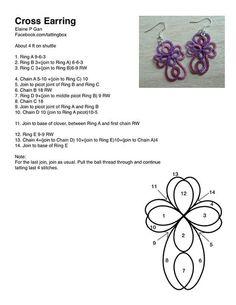 cross earrings pattern