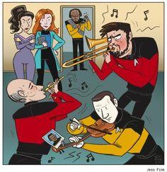 Star Trek: The Next Generation by Jess Fink    @Kelly Jenkins