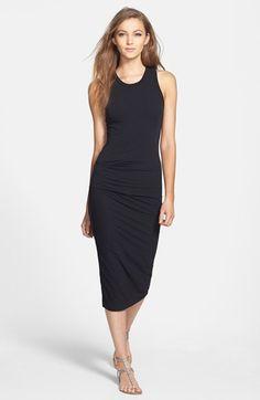 Black midi dress.