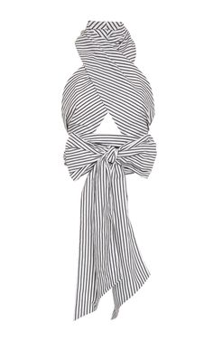 Stripe Oversized Wrap Top by TOME for Preorder on Moda Operandi