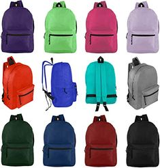 e4c9dd66 Amazing offer on Wholesale 17& Backpacks Students & Adults - Bulk Case 24  Bookbags - 12 Assorted Colors online