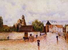 Moret-sur-Loing Rainy Weather  1887-1888 | Alfred Sisley | Oil Painting