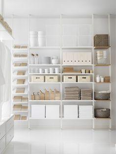 Check out the Elvarli Shelf Unit in Furniture, Kitchen Furniture from Ikea for Storage Room Organization, Ikea Storage, Office Storage, Smart Storage, Ikea 2017 Catalog, Elvarli Ikea, Best Closet Systems, Craft Room Design, Art Studio At Home