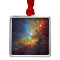 Tulip Nebula metal christmas ornamanent