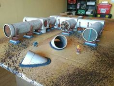 Industrial terrain using pipes