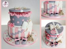 girl baby shower pink and gray