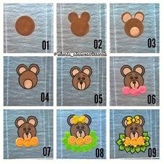 Meninas fiz o passo a passo da ursinha ❤ .... Cute Nail Art, Easy Nail Art, Cute Nails, Pretty Nails, Gel Designs, Nail Art Designs, Animal Nail Art, Nails For Kids, Face Painting Designs