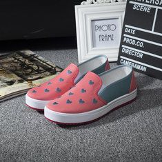 Hot-sale White Toe Color Blocking Canvas Slip On Casual Flat Shoes - NewChic Mobile.