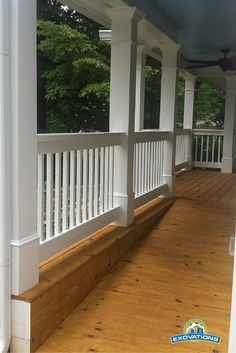 A porch can be custom-designed with a ramp like this for convenience and accessibility. An integrated part of this covered porch, the ramp shown here would be a lifesaver for family members who use a wheelchair or can't navigate steps, especially on rainy days! | Atlanta Porch Contractor | Exovations