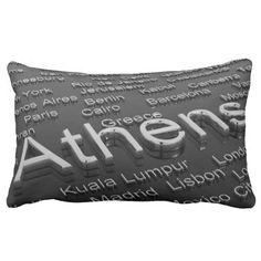 Athens, Greece, Pillow