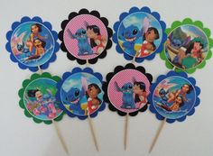 10 LILO and Stitch favor/party tags OR cupcake by AivanCreations