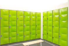 Go green with custom LockUp lockers from Digilock!