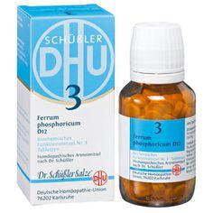 Schüssler Salze 3 (Ferrum Phosphoricum) ist der Eisenlieferant unter den Salzen und sorgt für eine gute Sauerstoffaufnahme im Körper.