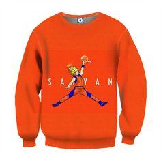 DBZ Super Saiyan Goku SSJ Basketball Slam Dunk Sweatshirt  #DBZ #SuperSaiyan #GokuSSJ #BasketballSlamDunkSweatshirt