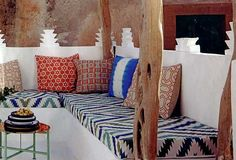moroccan outdoor lounge area