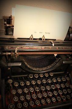 Old Type Writer Love