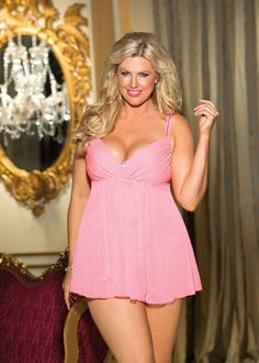 f7234b255713 Plus Size Lingerie- Stretch Mesh Babydoll | For Wendy | Pinterest | Cups,  Plus size lingerie and Mesh
