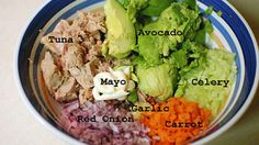 Is it tuna salad, or guacamole? This tuna salad replaces most of the mayo with avocado. Out with the bad fats, in with the good!